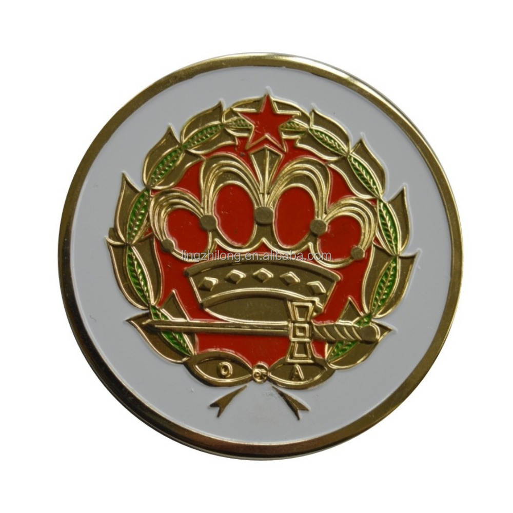 Light masonic star crown car badge promotional car emblem