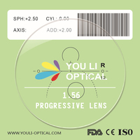 1.56 Resin Prescription Progressive Lenses