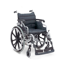 Durable heavy duty manual wheelchair with flip back armrest and swing away legrest
