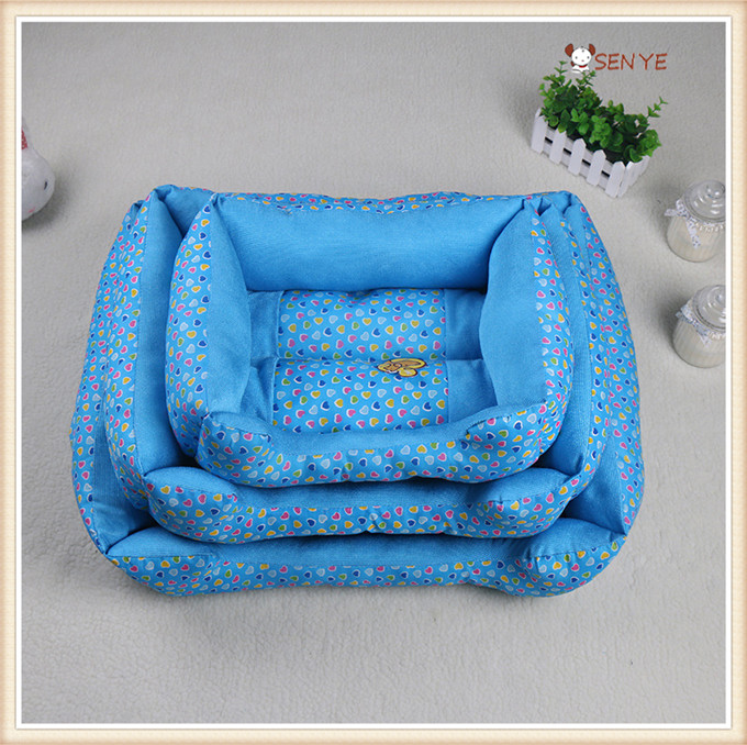 Round Dots Washable Large Dog Beds Dog Bed Sofa With Pillow Luxury Cheap Dog Bed
