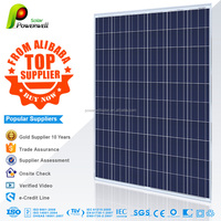 Powerwell Solar 255 watt 30v poly solar panel photovoltaic with CEC/IEC/TUV/ISO/INMETRO/CE certifications
