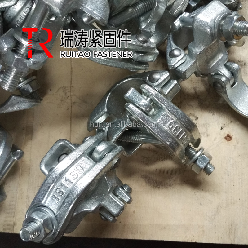 Forged Tube and Clamp Scaffold Coupler , Scaffold Double Coupler for sale