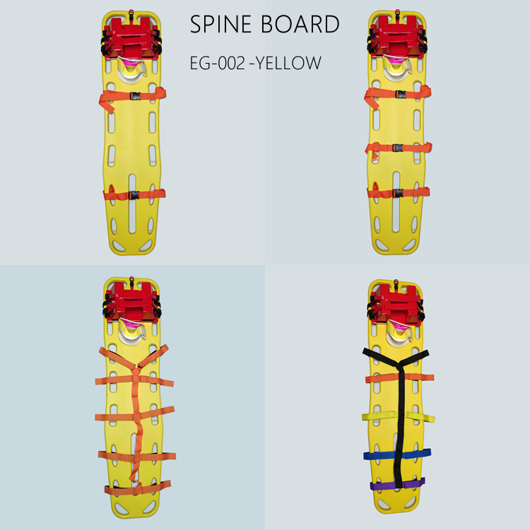 emergency set with head immobilizer,cervical collar,spine board and straps for adults and children