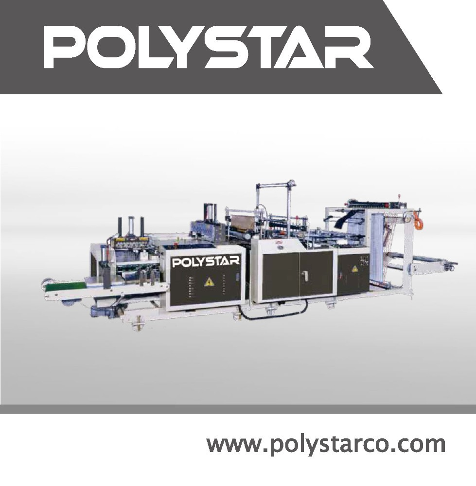 Plastic film plastic bag folding machine
