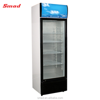 Single Door Upright Cooler Beverage Display