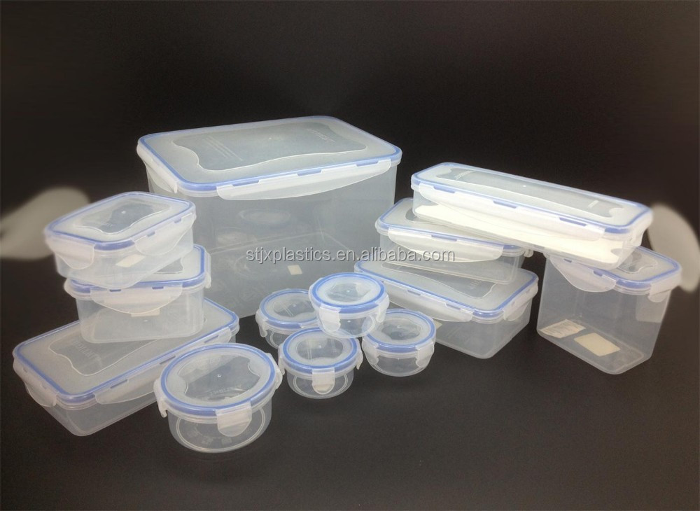 High quality food grade BPA FREE plastic container with lock