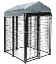 cheap strong welded wire mesh dog kennel with top cover / chain link mesh large dog cage