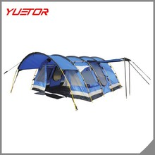 high quality 6 person blue family tunnel tent with living room