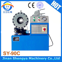 2016 The Newest model SY-90C maquinas para prensar mangueras hidraulicas crimping machine