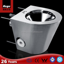 CE Stainless steel toilet bowl price without tank one piece toilet
