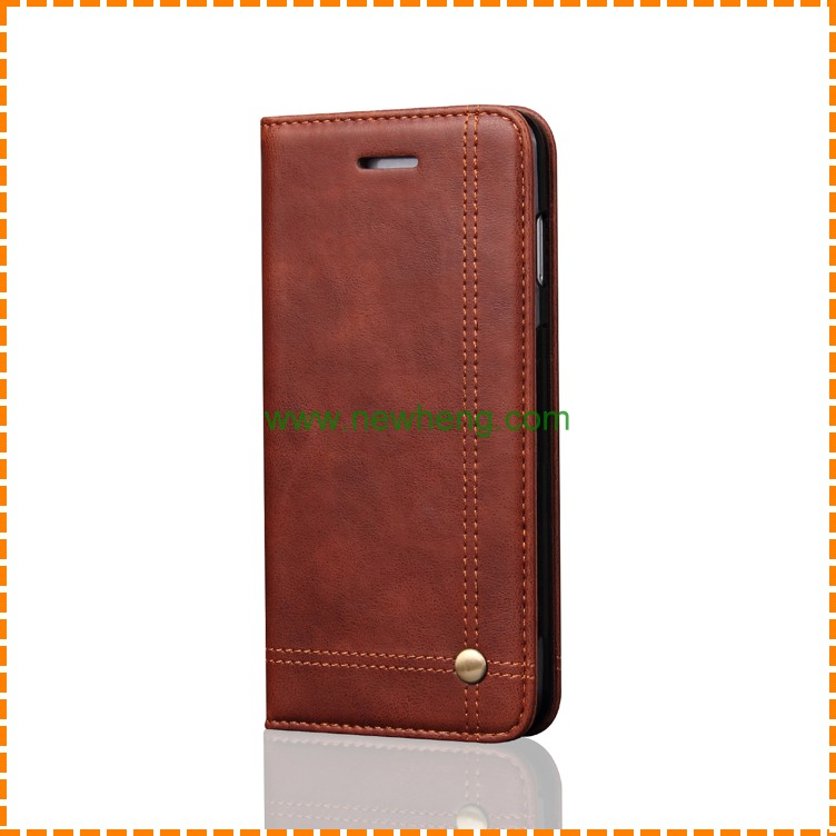 Customized Mobile Phone Flip Cover Genuine Real Leather Case For iPhone X