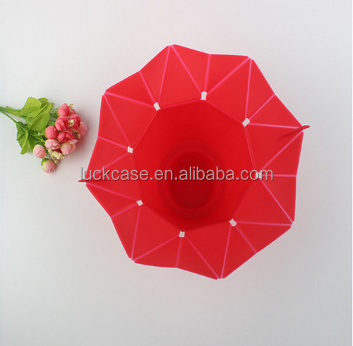 2017 Ebay Hot Selling Custom Foldable Creative Promotional Collapsible Food Grade Silicone Microwave Popcorn Bowl