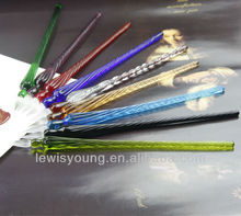 hand made glass pen for daily arts,magnifying glass pen