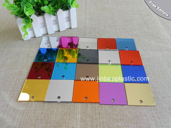 Full color plexiglass silver color two way acrylic mirror for decoration