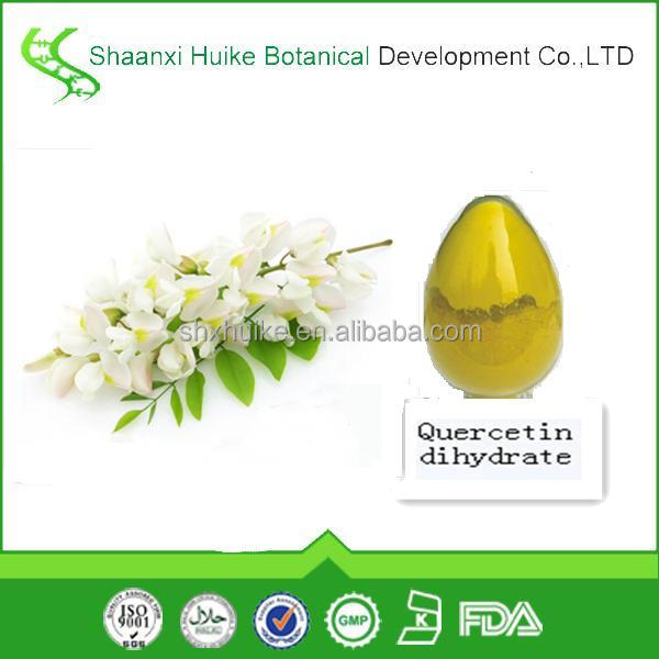anti-inflammatory flavonoids natural Quercetin powder plant extract quercetin dihydrate