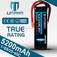 Upower High Power rc battery 6S1P 22.2V 5200mAh 35C Lithium Ion