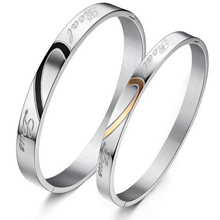 Wholesale newest design silver plated 316l stainless steel bangle for couples