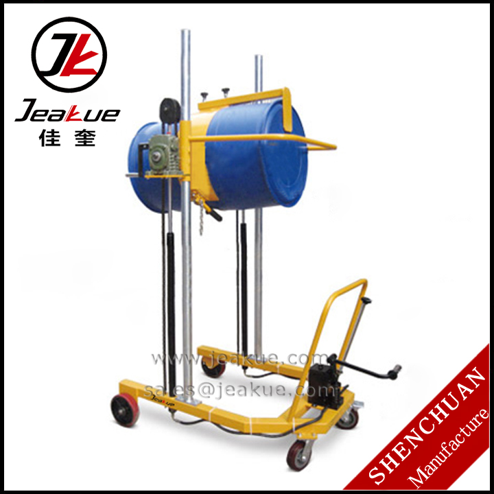 300kg Pedal Hydraulic Lifting Manual Lifting and Tilting Oil Drum Carts