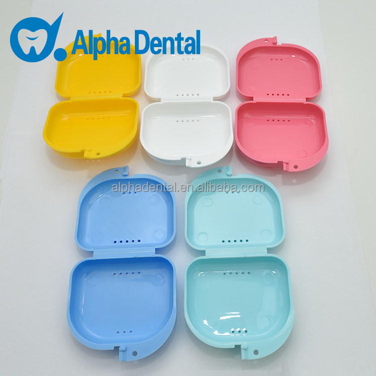 Dental Plastic Colorful Retainer Case/Dental Teeth Box with holes