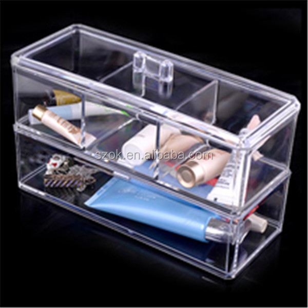 Transparent clear acrylic makeup plexiglass organizer for sale