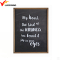 black wood framed positive wall hanging quotes wall art