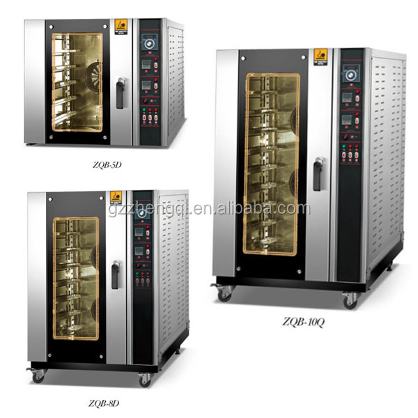 Factory Price Bakery 5 8 10 trays bread cake electric baking oven with steamer(ZQB-8D)