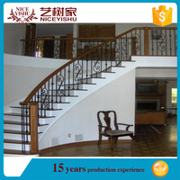 ornamental modern beautiful latest used price bamboo stair railing/ alibaba decorative customized aluminum stair railing