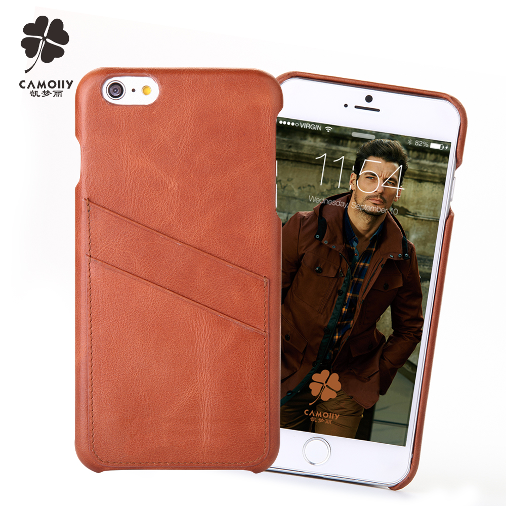 high quality telephone case for iPhone 5/5S with genuine leather material