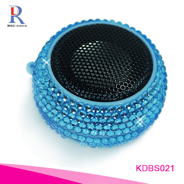 Rhinestone Crystal Design Speaker Charming Beauty bluetooth speaker