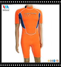 Unisex Short Sleeve 2MM Neoprene Shorty Wetsuit with Soft Neoprene