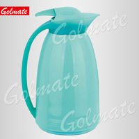 PLASTIC GLASS INNER INSULATED THERMOS GLASS REFILL VACUUM JUG, FLASK, COFFEE POT, WATER JUG 1.0L
