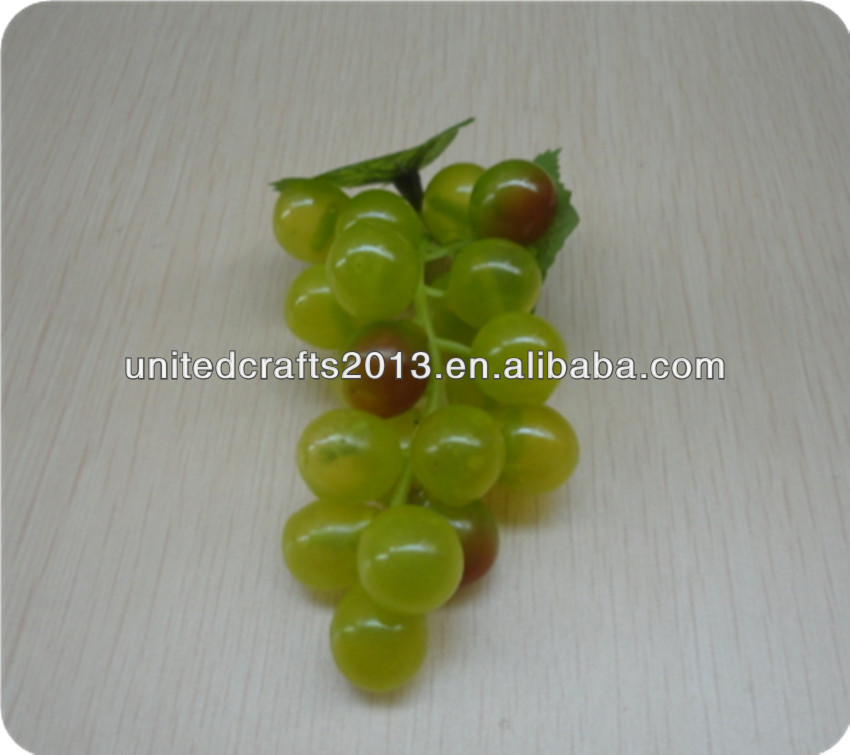 2014 Hot-Selling Most Popular Natural Christmas decorative artificial plastic grapes fruit