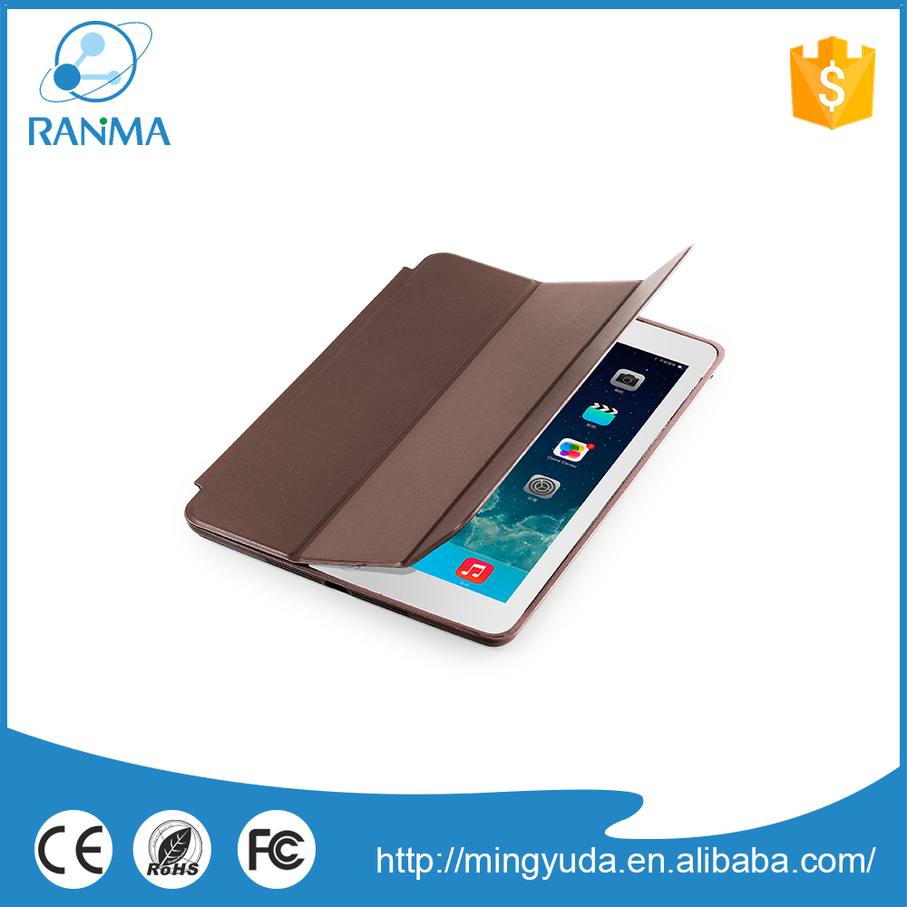 Wholesale book style pu leather flip leather case for ipad air