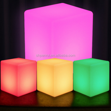 2017 popular light up LED Dice Lighted led outdoor light Cubes Color glowing/illuminated furniture