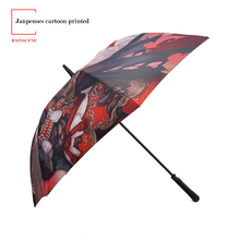 Cartoon Printed automatic open Uv Protection Golf Umbrella