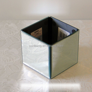 custom different sizes cube mirror vase for special events