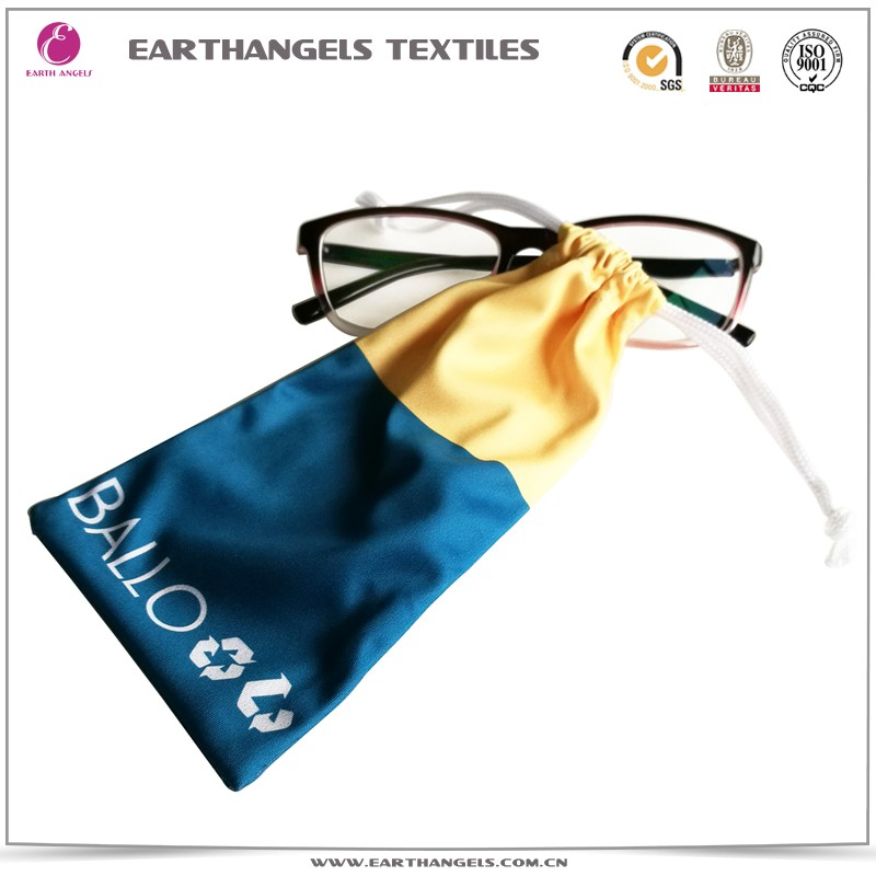Custom Logo Heat Transferal Microfiber Glasses/Sunglasses Pouch Bag