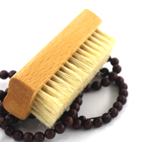 Custom logo shoe brush wood with CE certificate