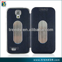 wood stria design leather cellular case for samsung galaxy s4 i9500