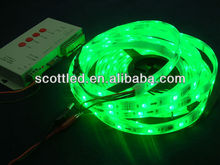 5m/roll led digital flexible strip WS2801 IC(256 scale,8 bit),32pcs 5050 RGB leds/m,dc5vinput,IP65,white PCB 1IC control 1LED