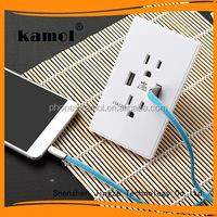 china supplier europe 5v/2.1a usb wall socket 220v