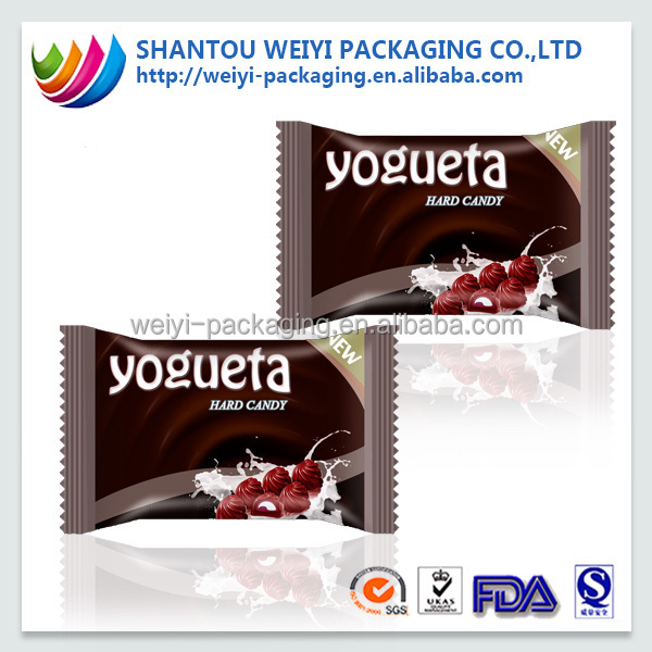 plastic chocolate bags/cream bag packaging/cream packaging manufacturer