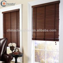 China supplier motorized venetian faux wood blinds wooden window blind