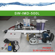 12V DC seawater desalination for boat