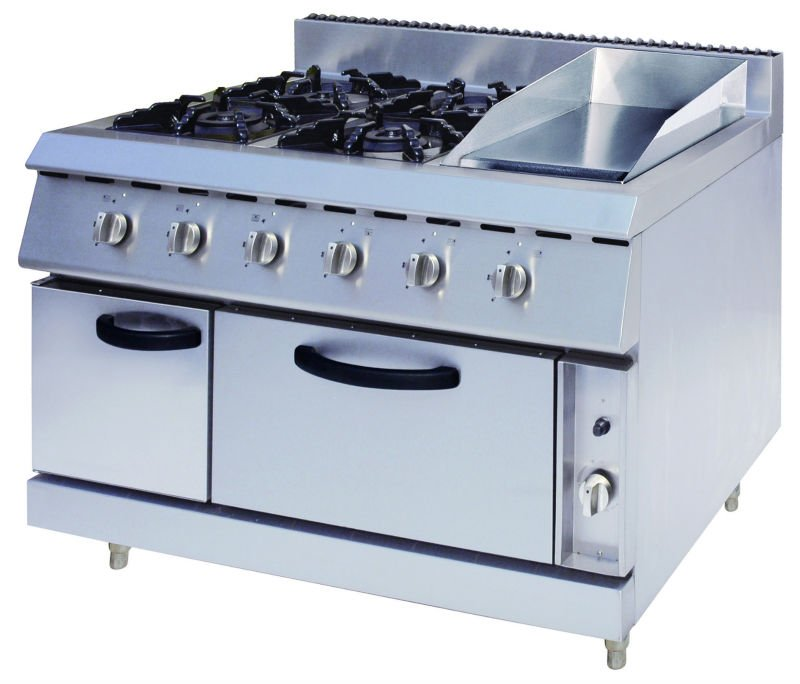 Gas Range With 4-Burners&Griddle&Gas Oven