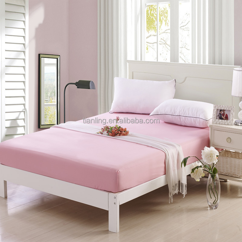 Lovely Pink Bedline Polyester Bedding Sheet Fitted Sheet