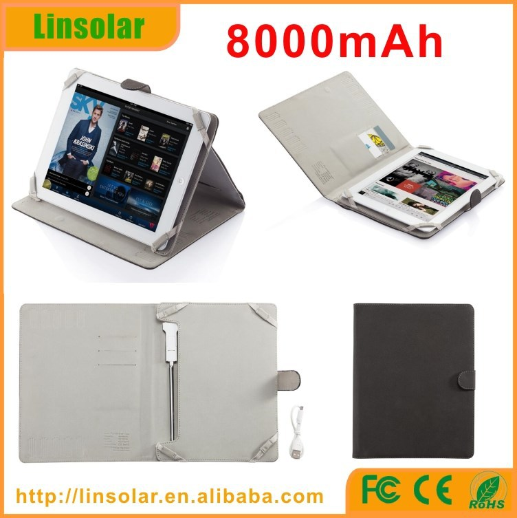 innovative 8000mAh external battery charger case for tablet ipad