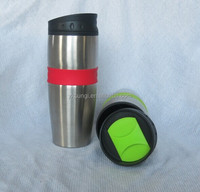 popular double wall coffee travel mug with screw lid
