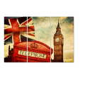 Wholesale Framed London City Poster Canvas Printing Big Ben Photo Canvas Prints Decorative Canvas Digital Prints for Home 3Pcs