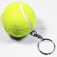 good quality colored promotional tennis ball key chains